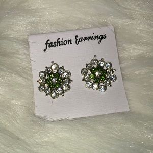 Jewelry - 💝 2/$20💝 New Crystal and green earrings